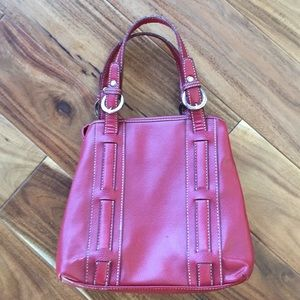 Tommy Hilfiger Red Leather Purse Handbag